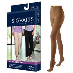 INDSG862PSSW36-EA - Sigvaris - Select Comfort Pantyhose, 20-30, Small, Short, Closed, Suntan, 1/EA