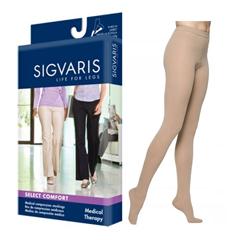 INDSG863PSSW33-EA - Sigvaris - Select Comfort Pantyhose, 20-30 mmHg, Small Short, Closed Toe, Natural, 1/EA