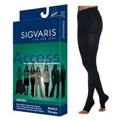 INDSG972PLLO99-EA - Sigvaris - Access Pantyhose, 20-30, Large, Long, Open, Black, 1/EA