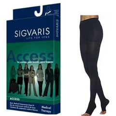 INDSG973PSSO66-EA - Sigvaris - Access Pantyhose, 30-40, Small, Short, Open, Crispa, 1/EA