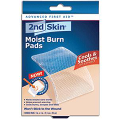 INDSK47027-BX - Implus Footcare - 2nd Skin Moist Burn Pad, Large 3 x 4, 3/BX