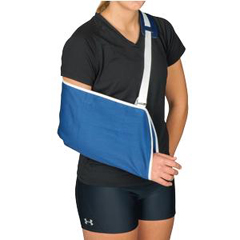 INDSS4535738-EA - Cardinal Health - Leader® Arm Sling, Blue, Universal, One Size Fits Most