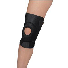 INDSS4914818-EA - Cardinal Health - Leader® Neoprene Reinforced Patella Knee Wrap, One Size Fits Most