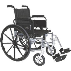 INDTC777W-EA - Tuffcare - 20 Wide Adult w/Standard Footrests, Lightweight, 1/EA