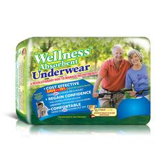 INDUW6244-CS - Unique Wellness - Absorbent Underwear, Medium 19 to 30, 20 EA/PK, 3 PK/CS