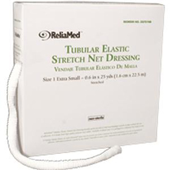 INDZG701NB-EA - Independence Medical - ReliaMed Tubular Elastic Stretch Net Dressing, X-Small 5-3/8 x 25 yds. (Finger, Toe and Wrist), 1/EA