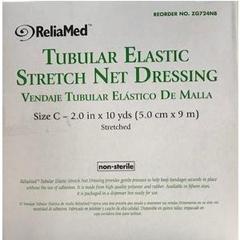 INDZG724NB-EA - Independence Medical - ReliaMed Tubular Elastic Stretch Net Precut Dressing, Size C, 2 x 10 yds., 1/EA