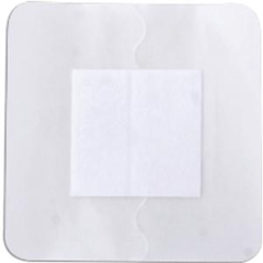 INDZGFB44-BX - Independence Medical - ReliaMed Sterile Composite Barrier Transparent Thin Film Dressing with a Non-Adherent Island Pad 4 x 4 with a 2 x 2 Pad, 25/BX