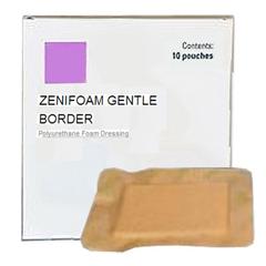 INDZM30066-BX - ZeniMedical - ZeniMedical ZeniFoam Gentle Border Foam Dressing 6 x 6, 10/BX