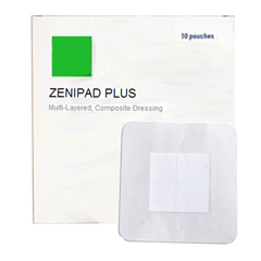 INDZM40066-BX - Zenimedical - ZeniMedical ZeniPad Plus Composite Dressing, 6 x 6 with 4 x 4 Pad, 10/BX