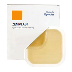 INDZM50066-EA - Zenimedical - ZeniMedical ZeniPlast Hydrocolloid Dressing 6 x 6, 1/EA