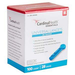INDZPL10028A-BX - Independence Medical - ReliaMed Universal Lancet 28G (100 count), 100/BX