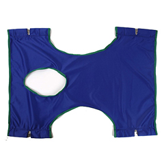 INV9043 - InvacareStandard Sling, Solid Polyester w/Commode Opening - 29 W