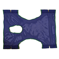 INV9047 - InvacareStandard Sling, Polyester Mesh w/Commode Opening - 29 W