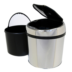 ITOIT01RCEA - iTouchless1.5 Gallon Automatic Stainless Steel Touchless Trash Can® TX