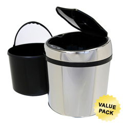 ITOIT01RCCS - iTouchless1.5 Gallon Automatic Stainless Steel Touchless Trash Can® TX