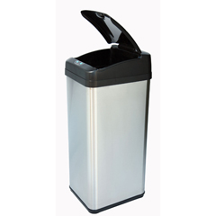 ITOIT13MXEA - iTouchless13 Gallon Square Extra-Wide Opening Touchless Trash Can® MX