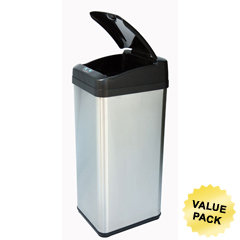 ITOIT13MXCS - iTouchless13 Gallon Square Extra-Wide Opening Touchless Trash Can® MX