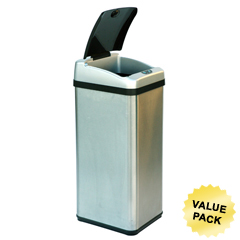 ITOIT13RXCS - iTouchless13 Gallon Square Extra-Wide Opening Touchless Trash Can® RX