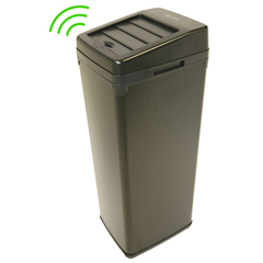 ITOIT14SBEA - iTouchless14 Gal. Automatic Black Touchless Trash Can® SX