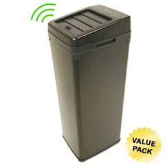ITOIT14SBCS - iTouchless14 Gal. Automatic Black Touchless Trash Can® SX