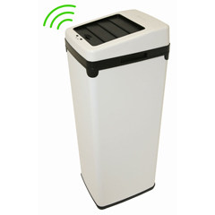 ITOIT14SWEA - iTouchless14 Gal. Automatic White Touchless Trash Can® SX