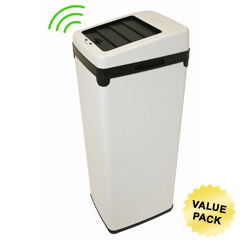 ITOIT14SWCS - iTouchless14 Gal. Automatic White Touchless Trash Can® SX