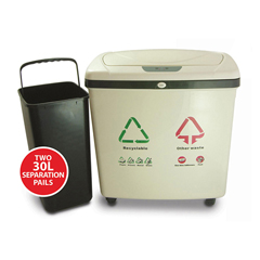ITOIT16REEA - iTouchless16 Gal. Automatic Recycle Touchless Trash Can® NX