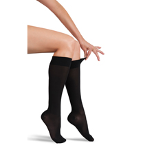 ITAGH-180MBL - Ita-MedGABRIALLA® Sheer Knee Highs - Black, Medium