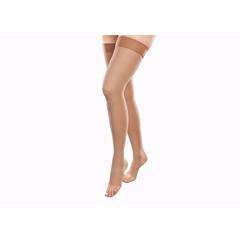 ITAGH-306-O-MB - Ita-MedGABRIALLA® Open Toe Thigh Highs - Beige, Medium