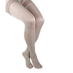 ITAGH-306SB - Ita-MedGABRIALLA® Microfiber Thigh Highs - Beige, Small