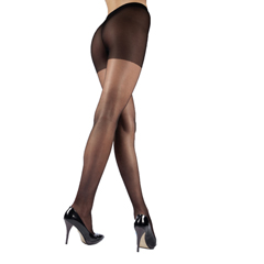 ITAGH-330Q-BL - Ita-MedGABRIALLA® Sheer Pantyhose - Black, Queen Plus