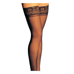 ITAGH-80LBL - Ita-MedGABRIALLA® Sheer Thigh Highs - Black, Large