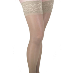 ITAGH-80LND - Ita-MedGABRIALLA® Sheer Thigh Highs - Nude, Large