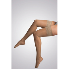 ITAGH-80MB - Ita-MedGABRIALLA® Sheer Thigh Highs - Beige, Medium
