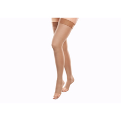 ITAIH-306-O-SB - Ita-Med - Open Toe Thigh Highs - Beige, Small