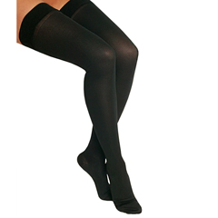 ITAIH-306LBL - Ita-MedMicrofiber Thigh Highs - Black, Large