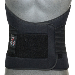 ITAILS-112-I-LBL - Ita-Med - Extra Strong 12 Lower Back Support - Black, Large