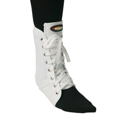 ITAMNAN-115LW - Ita-MedMAXAR® Canvas Ankle Brace (with laces) - White, Large
