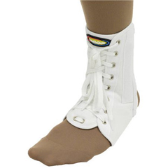 ITAMNAN-115MW - Ita-MedMAXAR® Canvas Ankle Brace (with laces) - White, Medium