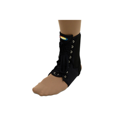 ITAMNAN-115SBL - Ita-MedMAXAR® Canvas Ankle Brace (with laces) - Black, Small