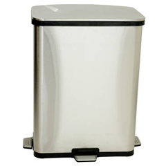 ITOST13RTF - iTouchless13 Gallon Fingerprint-Proof Stainless Steel Step-Sensor Trash Can