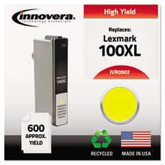 IVR0902 - Innovera Remanufactured High-Yield 14N0902 (100XL) Ink, 600 Page-Yield, Yellow
