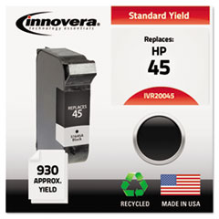 IVR20045 - Innovera Remanufactured 51645A (45) Ink, 930 Page-Yield, Black