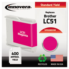IVR20051M - Innovera Remanufactured LC51M Ink, 400 Page-Yield, Magenta
