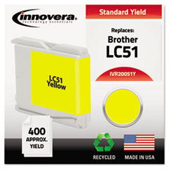 IVR20051Y - Innovera Remanufactured LC51Y Ink, 400 Page-Yield, Yellow
