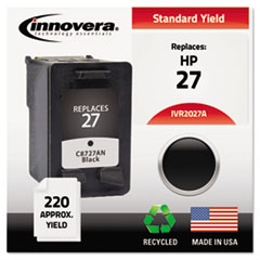 IVR2027A - Innovera Remanufactured C8727AN (27) Ink, 220 Page-Yield, Black