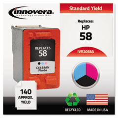 IVR2058A - Innovera Remanufactured C6658AN (58) Ink, 125 Page-Yield, Photo