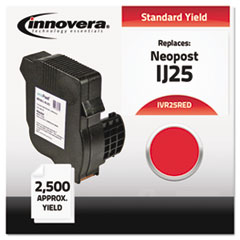 IVR25RED - Innovera 25RED Compatible, Remanufactured, 3300028D Postage Meter, 2500 Page-Yield, Red