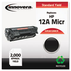 IVR2612MICR - Innovera Remanufactured Q2612A(M) MICR Toner, 2000 Yield, Black
